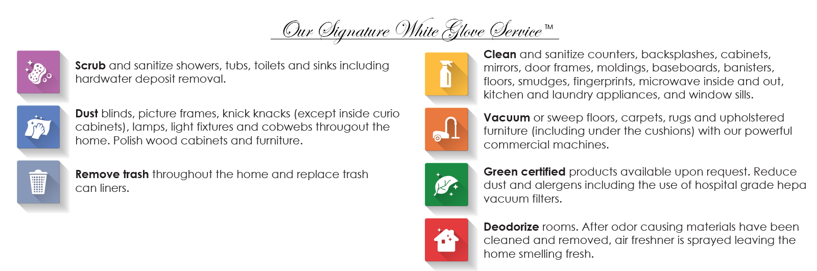 white glove service. American Housekeeping of Utah   Professional Housekeeping You Can